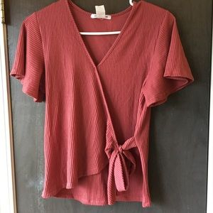 NWOT Wrap Front Top